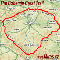 Map of the Bohemia Crest Trail
